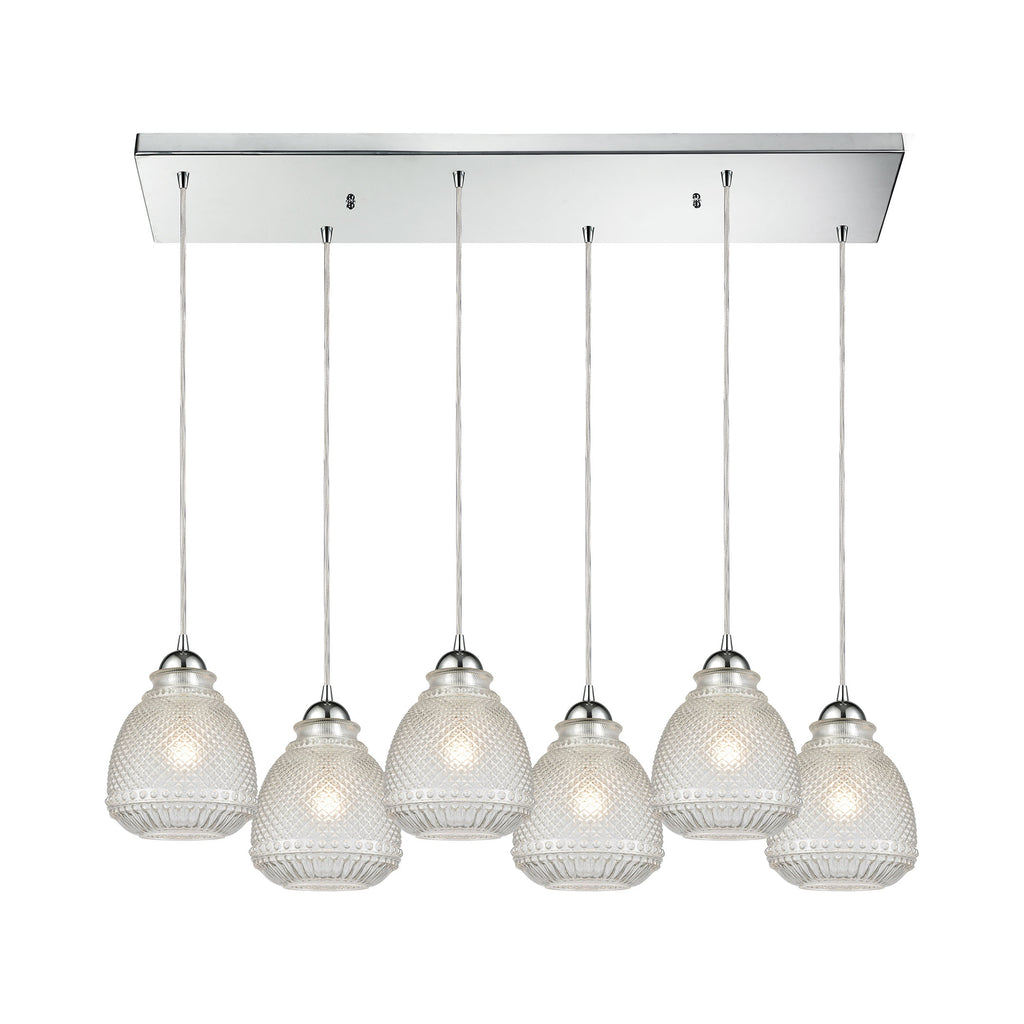 Victoriana 6 Pendant Polished Chrome