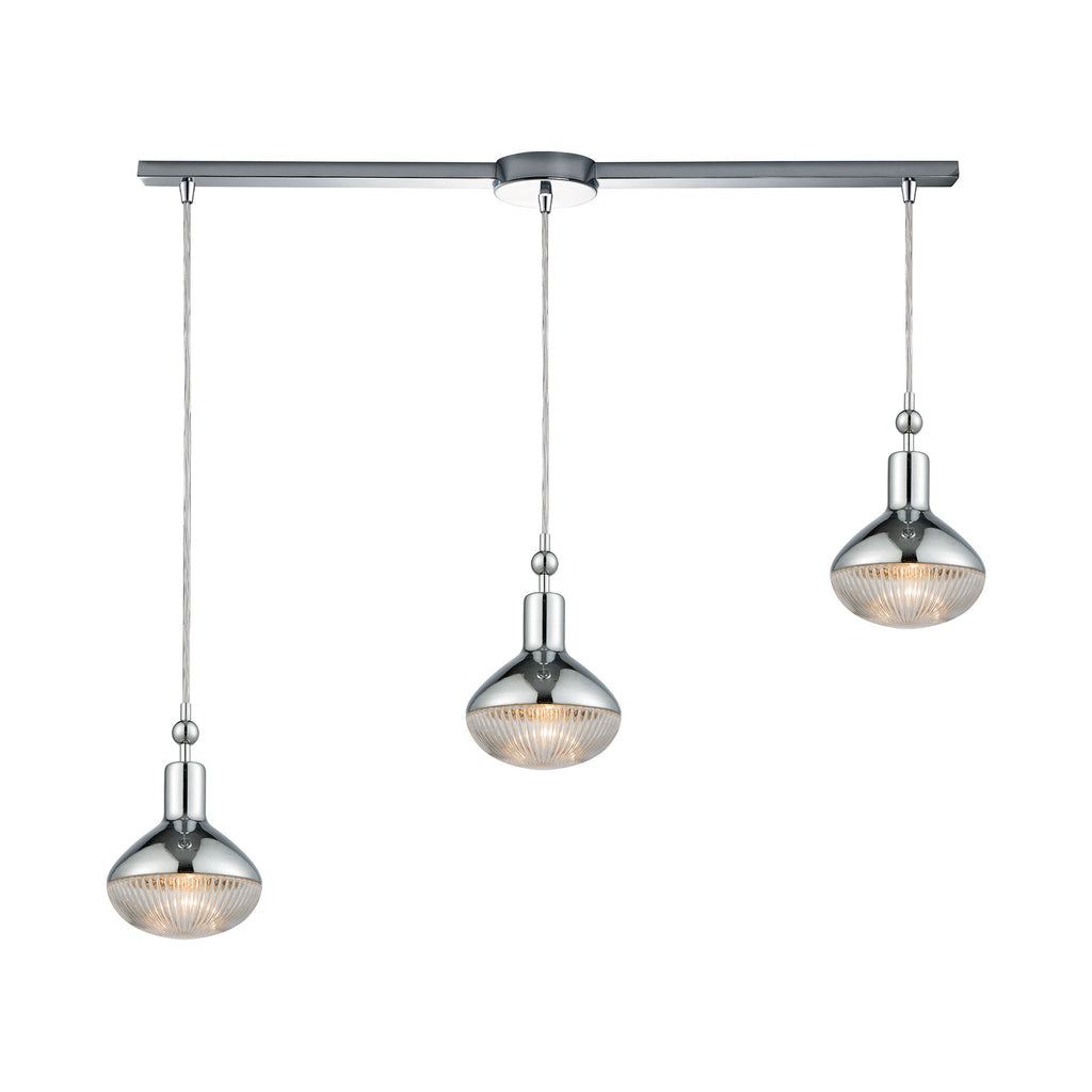 Ravette 3 Pendant Polished Chrome