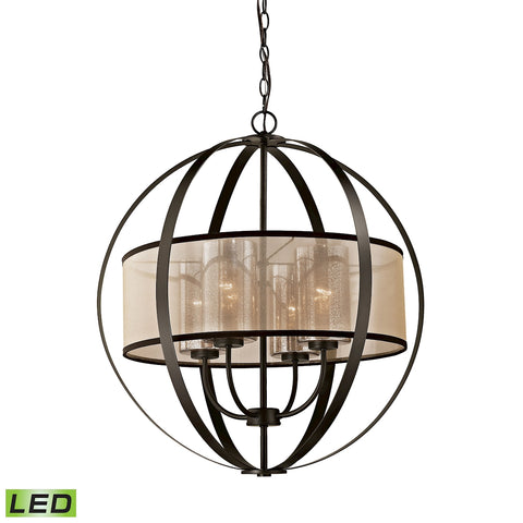 Diffusion 4 Light LED Chandelier in Oil Rubbed Bronze
