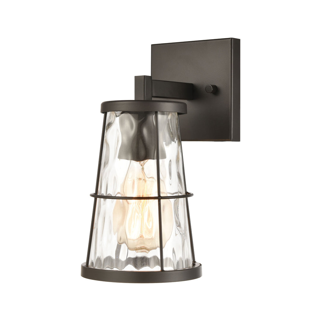 Kendrix 1-Light Vanity Light in Oil Rubbed Bronze with Water Glass