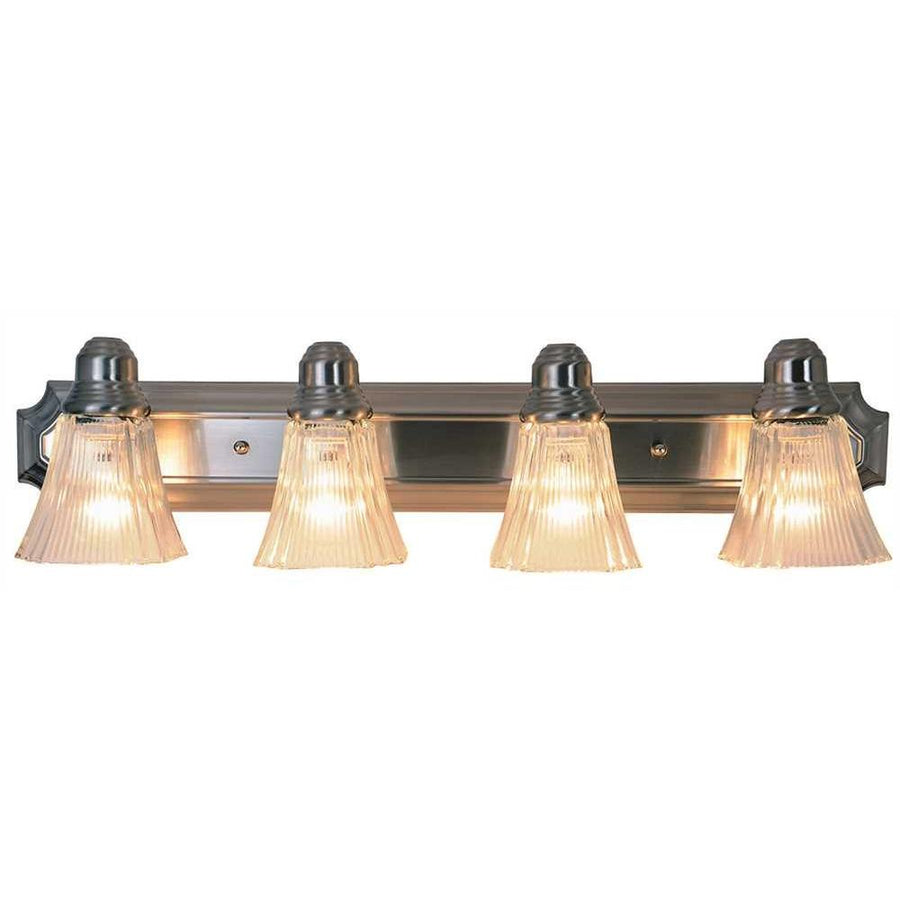 DECORATIVE VANITY FIXTURE, MAXIMUM FOUR 60 WATT INCANDESCENT MEDIUM BASE BULBS