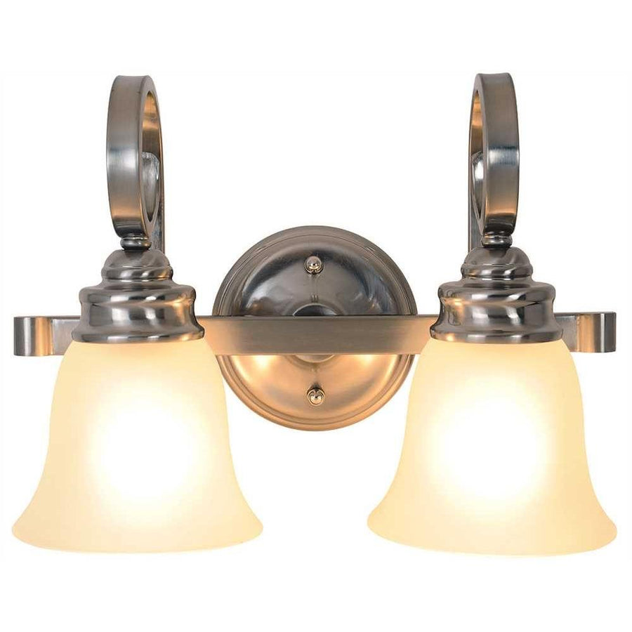 SANIBEL™ VANITY LIGHT FIXTURE, MAXIMUM TWO 60 WATT INCANDESCENT MEDIUM BASE BULBS