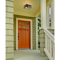 Parameters 2-Light Flush Mount in Bronze with Clear Glass