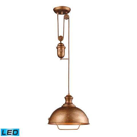 Farmhouse Bellwether Copper Pendant - LED Offering Up To 800 Lumens (60 Watt Equivalent) with Full R