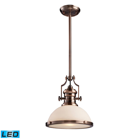 Chadwick 1-Light Pendant in Antique Copper - LED Offering Up To 800 Lumens (60 Watt Equivalent) With