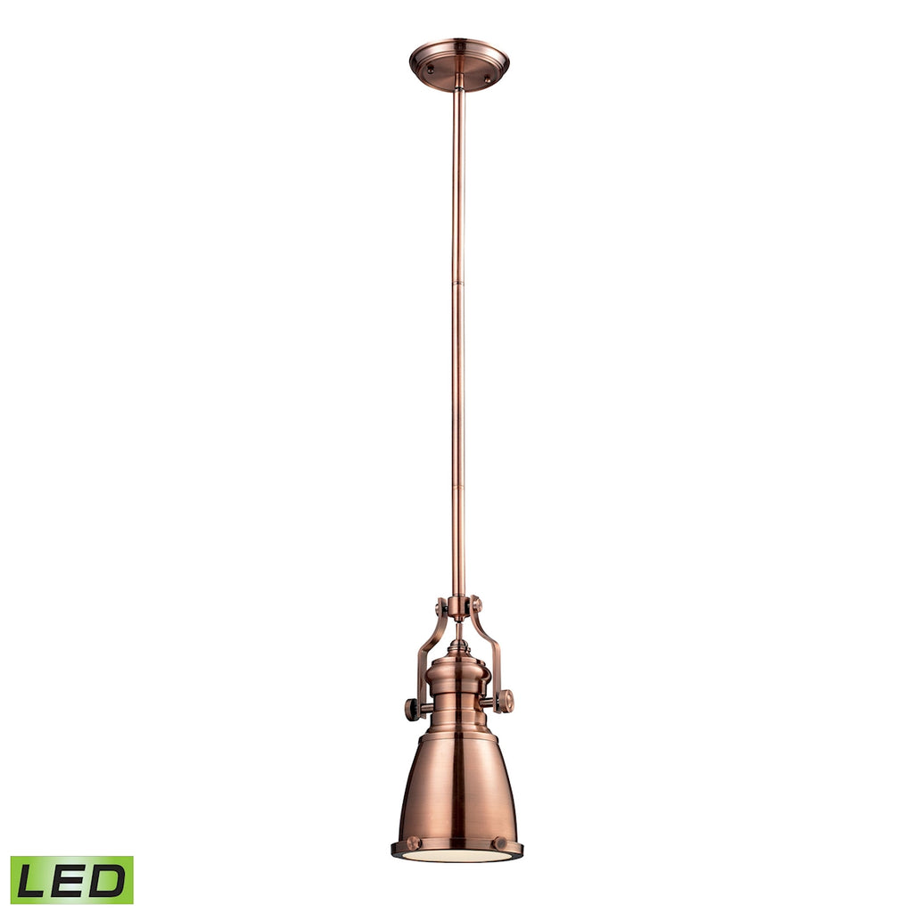 Chadwick Antique Copper Pendant - LED Offering Up To 800 Lumens (60 Watt Equivalent) with Full Range