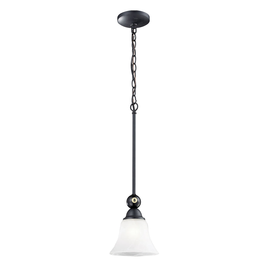 Designer Classics 1-Light Billiard Pendant in Matte Black**