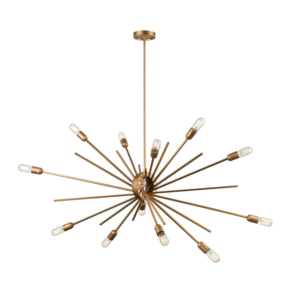 Xenia 14-Light Island Light in Matte Gold