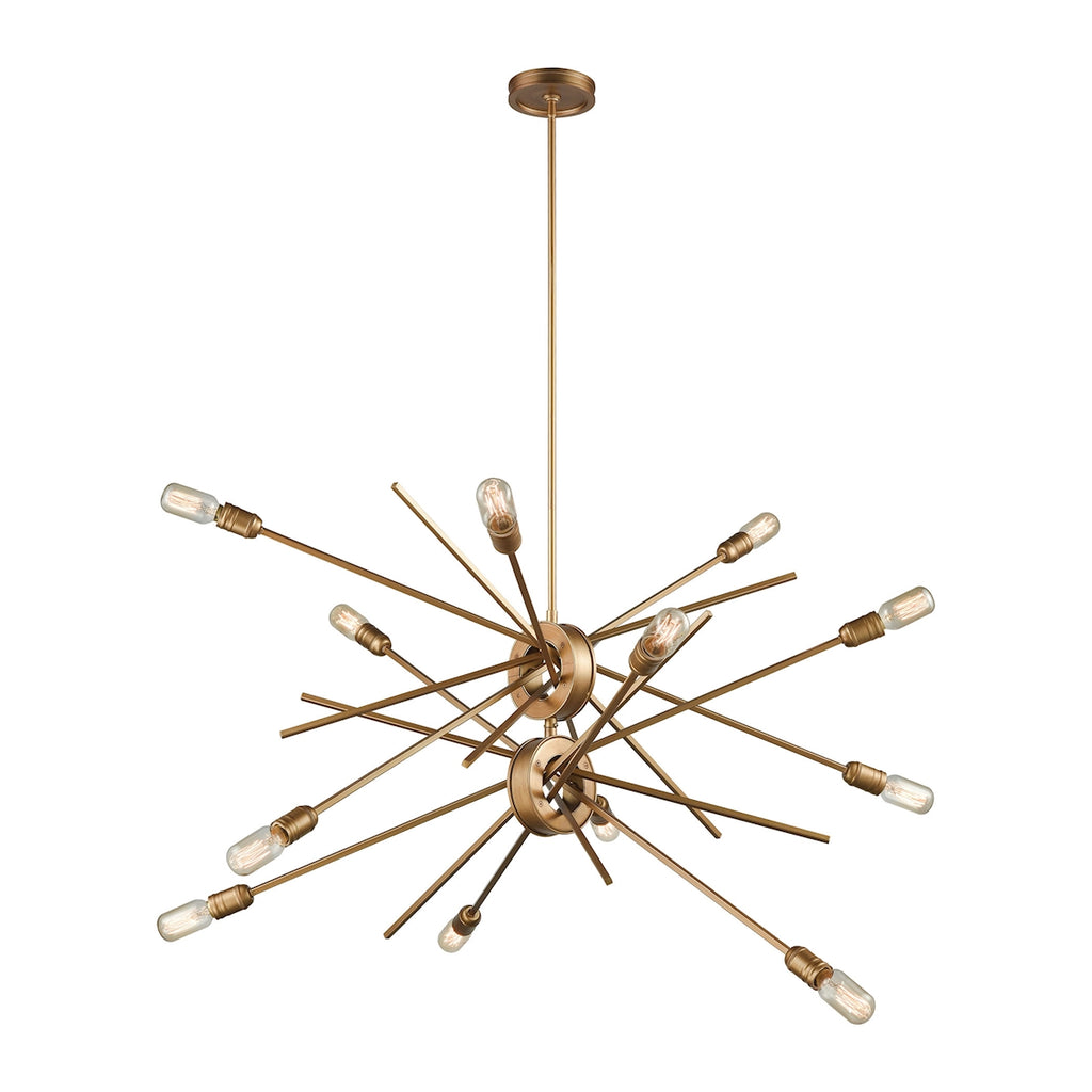 Xenia 12 Light Chandelier in Matte Gold