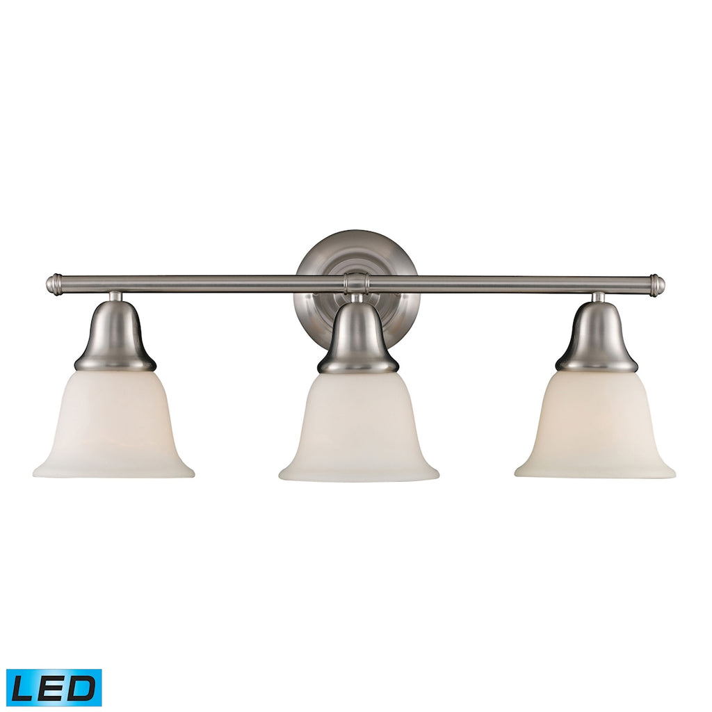 Berwick 3-Light Vanity in Brushed Nickel - LED, 800 Lumens (2400 Lumens Total) with Full Scale Dimmi