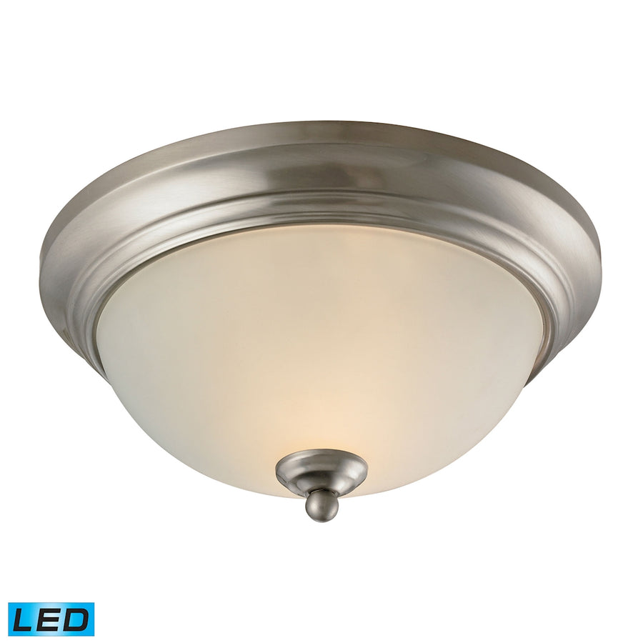 Huntington 2 Light LED Flushmount In Brushed Nickel