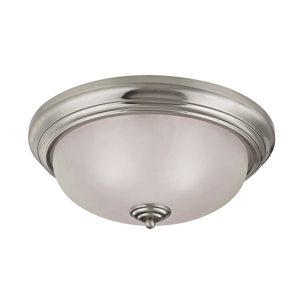 Huntington 3 Light Flushmount In Brushed Nickel