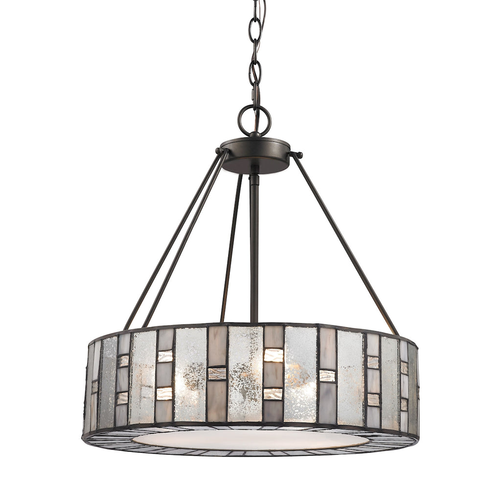 Ethan 3 Light Chandelier in Tiffany Bronze