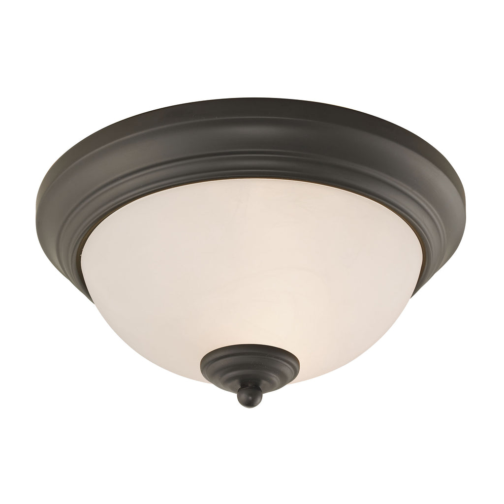 Huntington 2 Light Flushmount In Oil Rubbed Bronze
