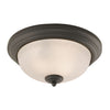 Huntington 3 Light Flushmount In Oil Rubbed Bronze
