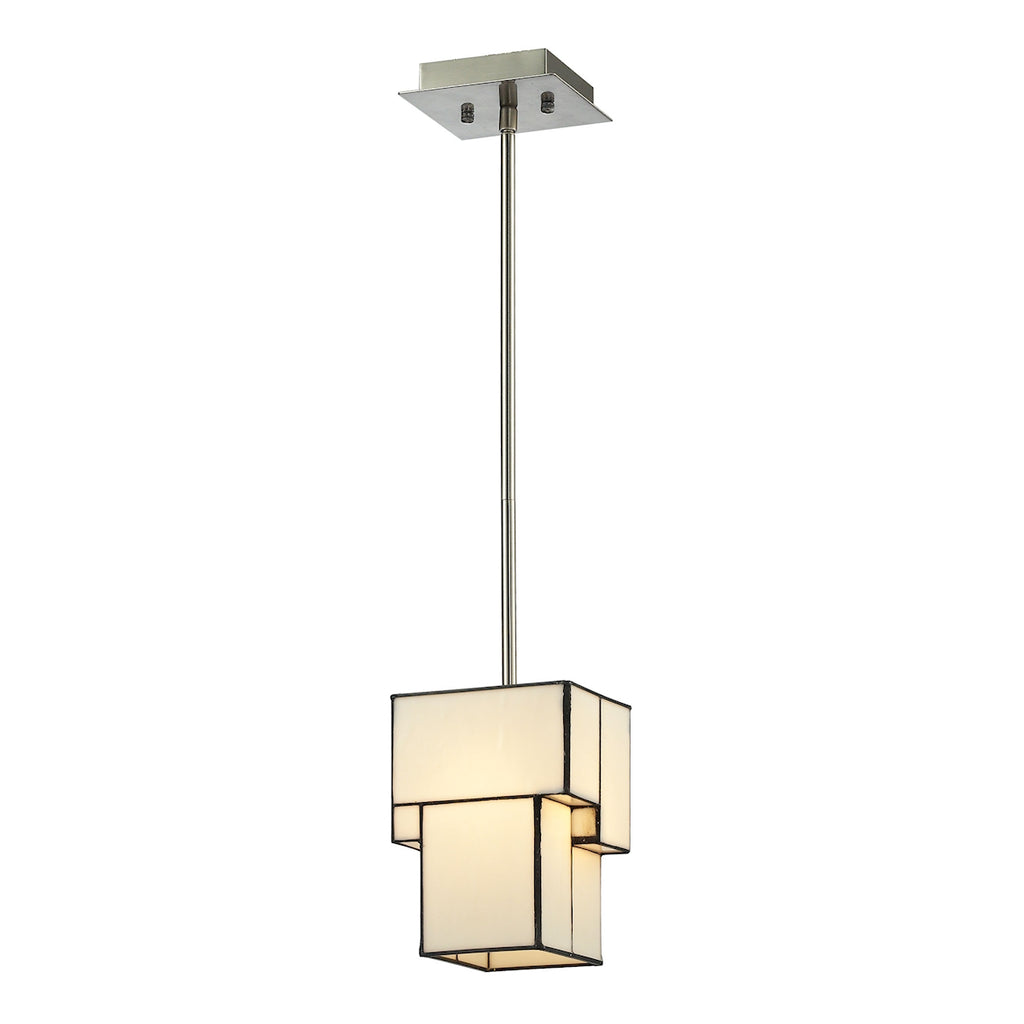 Cubist Collection 1 light mini pendant in Brushed Nickel