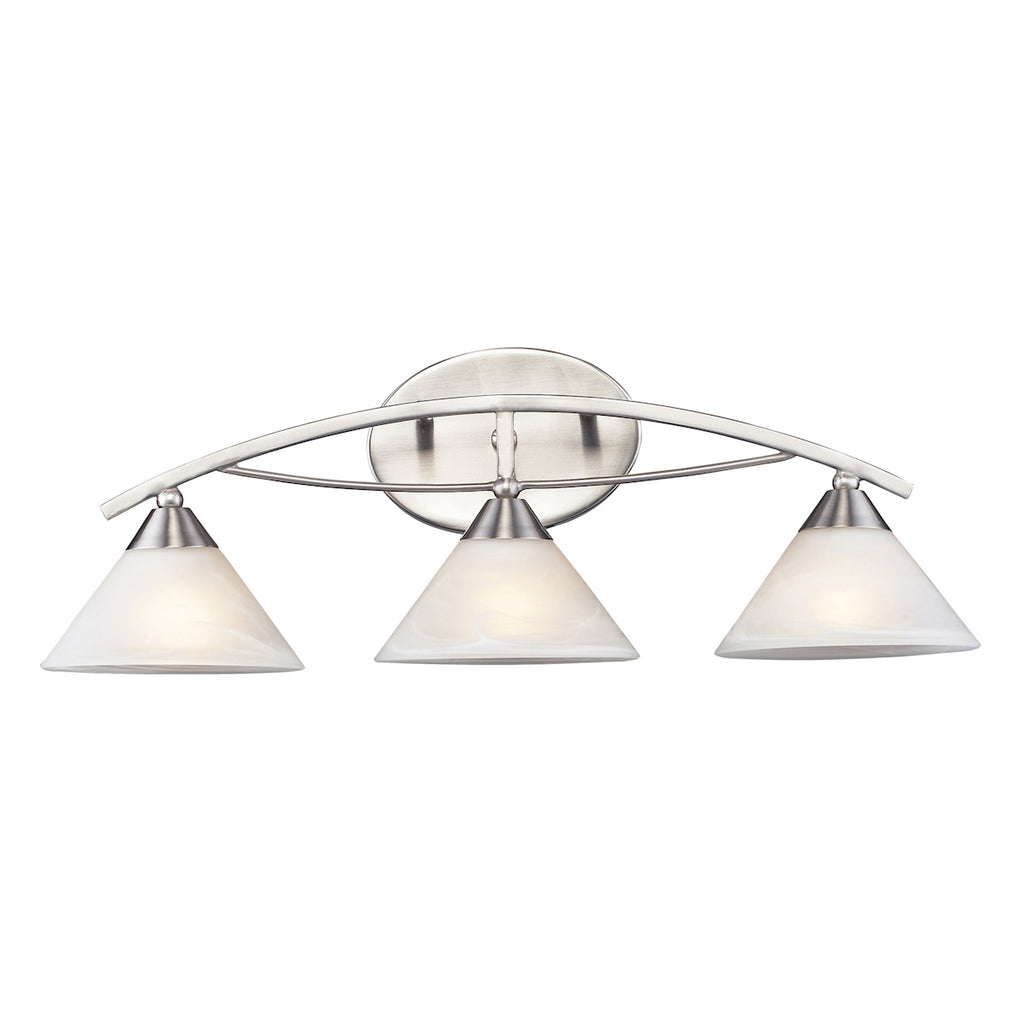 Elysburg Collection 3-Light Wall Sconce in Satin Nickel