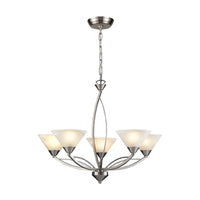 Elysburg Collection Satin Nickel 5-Light Chandelier