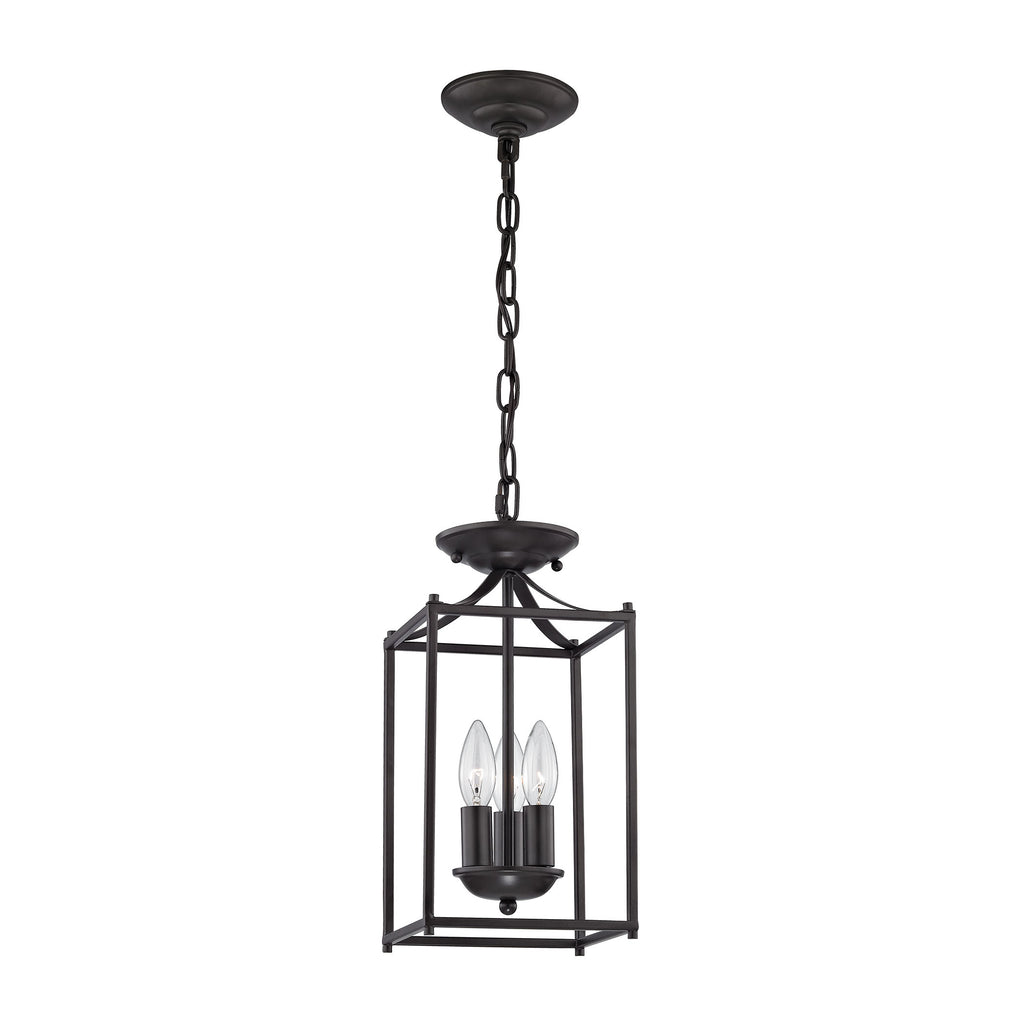 Foyer 3 Light Pendant In Oil Rubbed Bronze