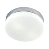 1 Light Flush Mount In Satin Nickel And White Glass