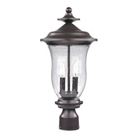 Trinity 2 Light Outdoor Post Lamp In Oil Rubbed Bronze