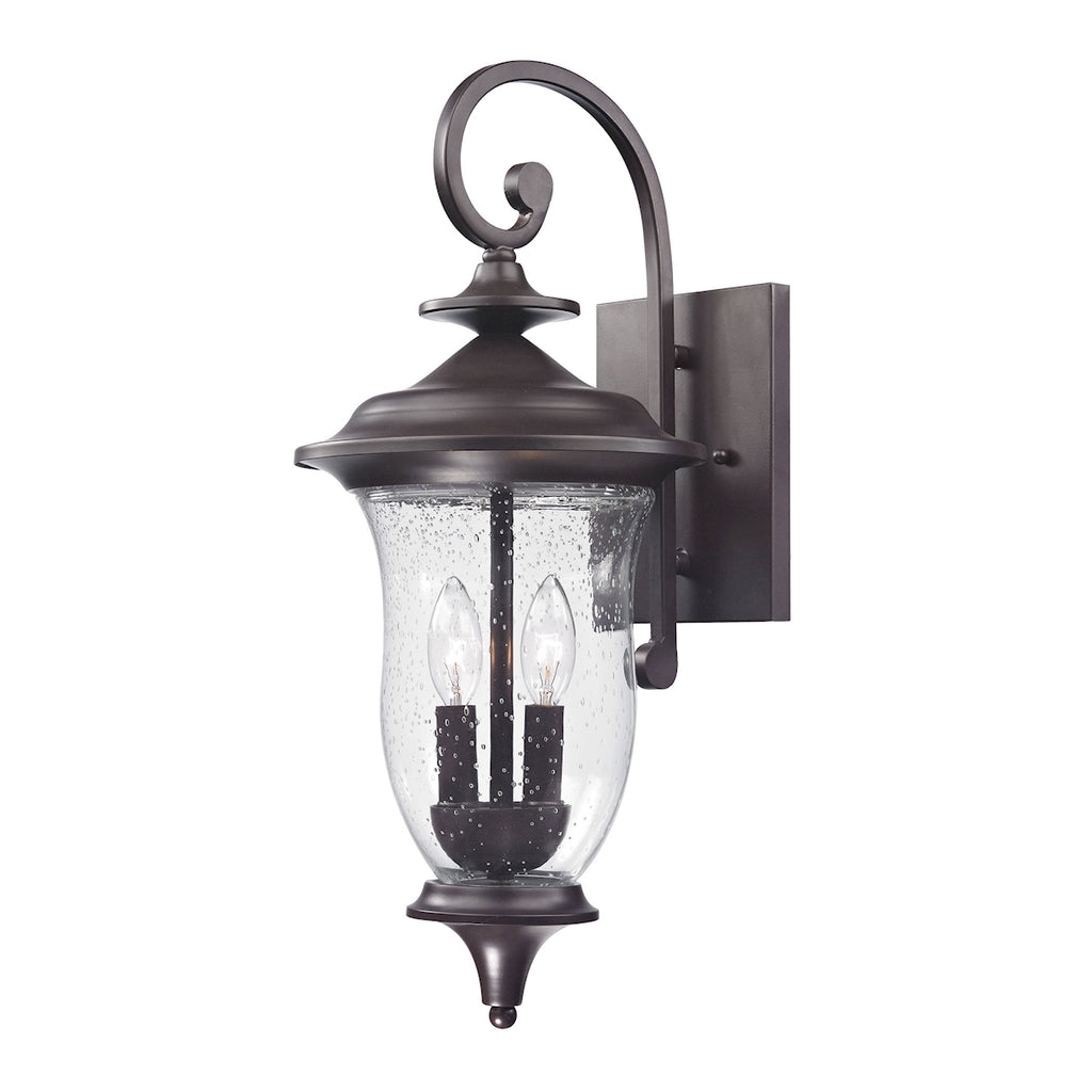 Trinity 2 Light Outdoor Wall Sconce In Oil Rubbed Bronze