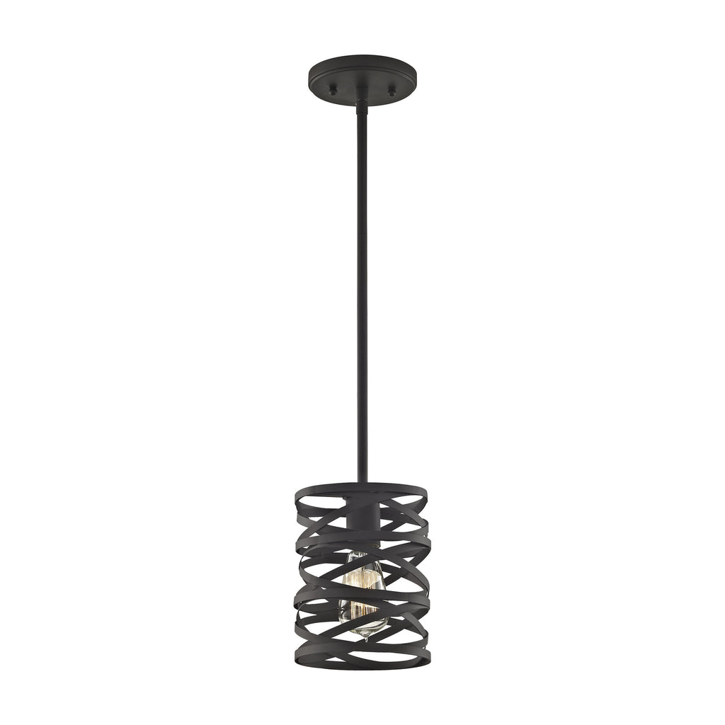 Vorticy 1 Light Pendant in Oil Rubbed Bronze - Includes Recessed Lighting Kit