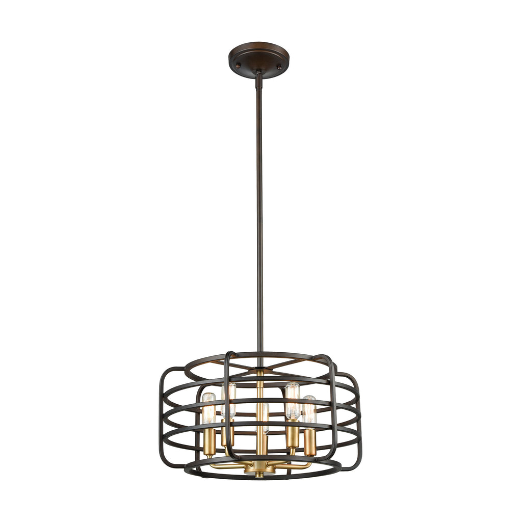 Capistrano 5 Pendant Oil Rubbed Bronze/Satin Brass