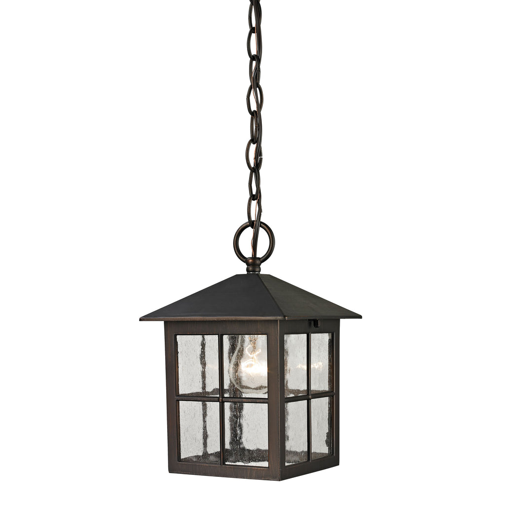 Shaker Heights 1 Light Outdoor Pendant In Hazelnut Bronze