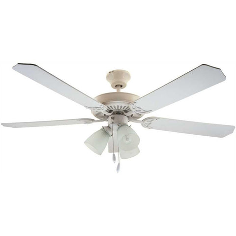 BALA® CEILING FAN WITH LIGHT, FROSTED BELL