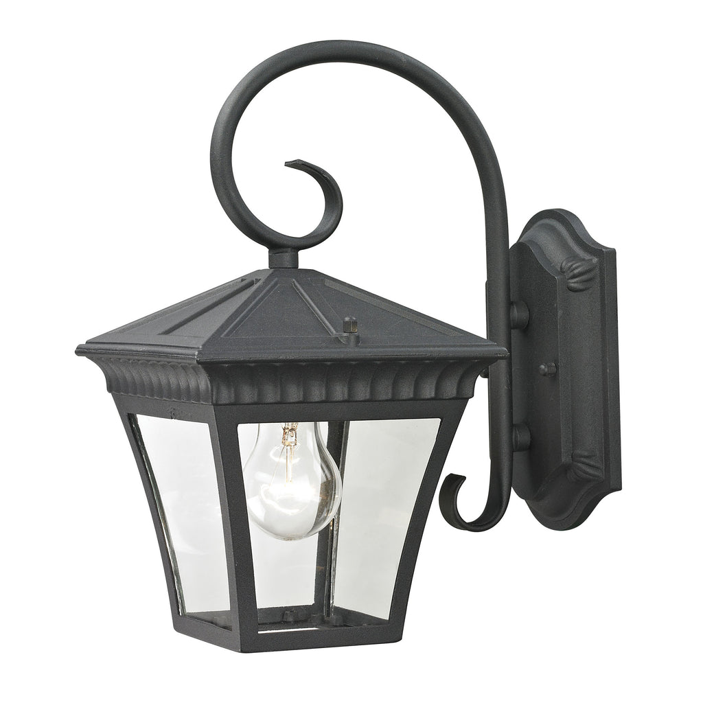 Ridgewood 1 Light Outdoor Wall Sconce In Matte Textured Black