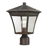 Ridgewood 1 Light Outdoor Post Lamp In Hazelnut Bronze