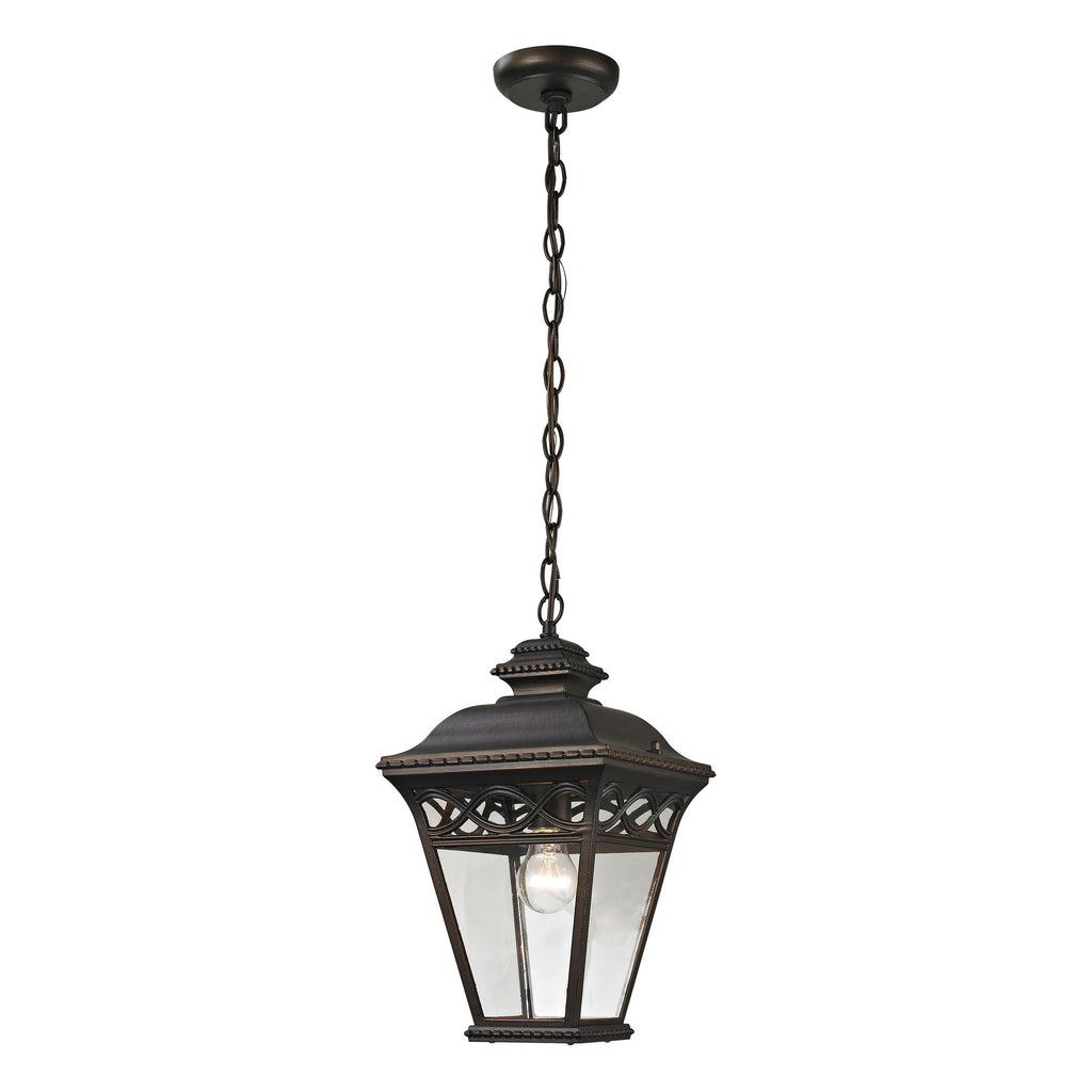 Mendham 1 Light Outdoor Pendant In Hazelnut Bronze