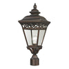 Mendham 1 Light Outdoor Post Lamp In Hazelnut Bronze
