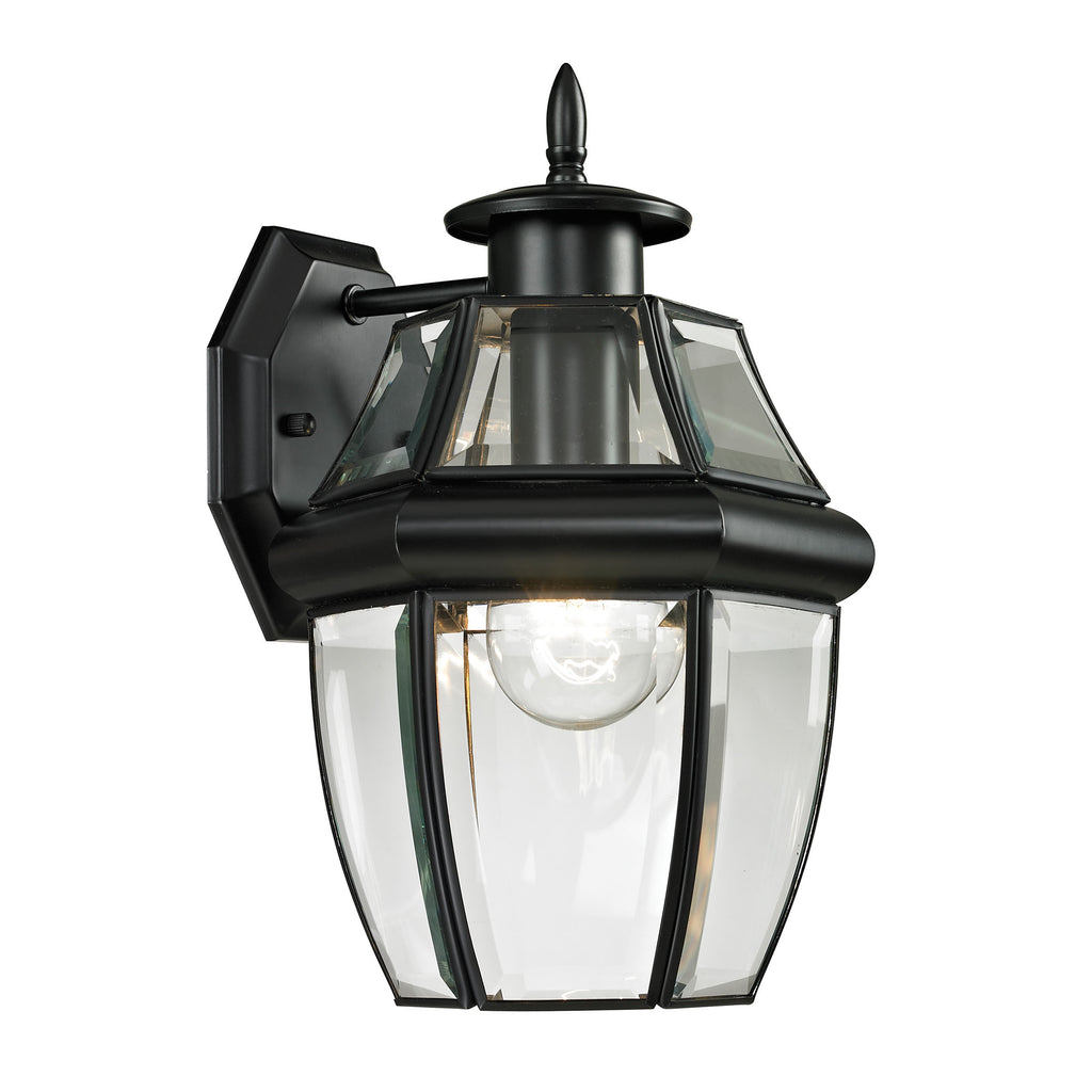 Ashford 1 Light Outdoor Wall Sconce In Black