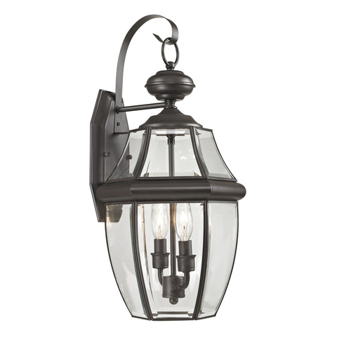 Ashford 2 Light Outdoor Wall Sconce In Oil Rubbed Bronze