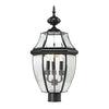 Ashford 3 Light Exterior Post Lantern In Black