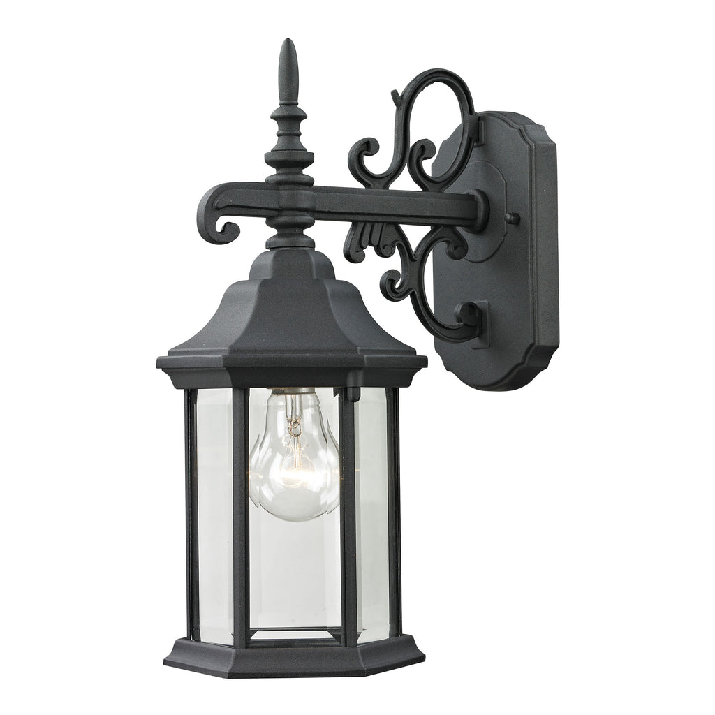 Spring Lake 1 Light Outdoor Wall Sconce In Matte Textured Black