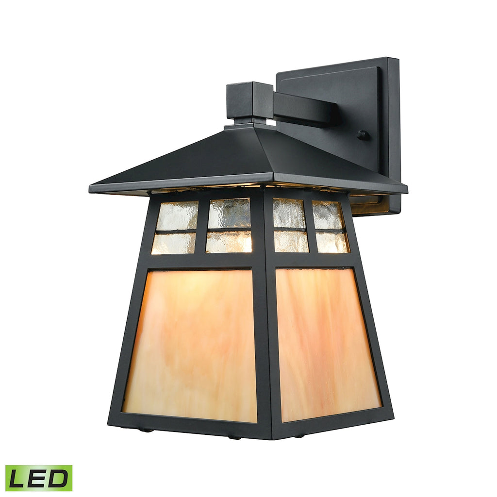 Cottage 1 Light LED Outdoor Wall Sconce in Matte Black