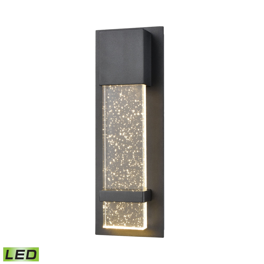 Emode 1-Light Sconce in Matte Black with Seeded Crystal