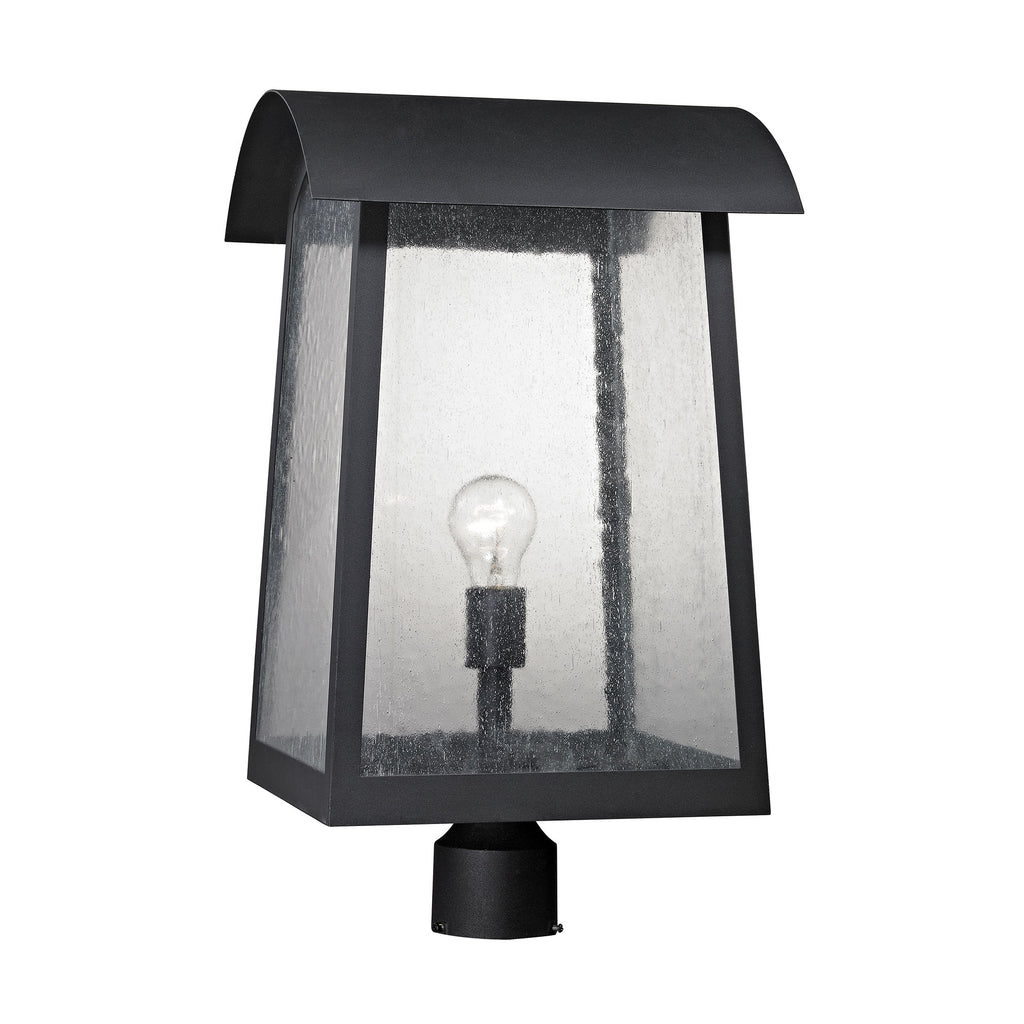 Prince Street 1 Light Outdoor Post Lamp In Matte Black
