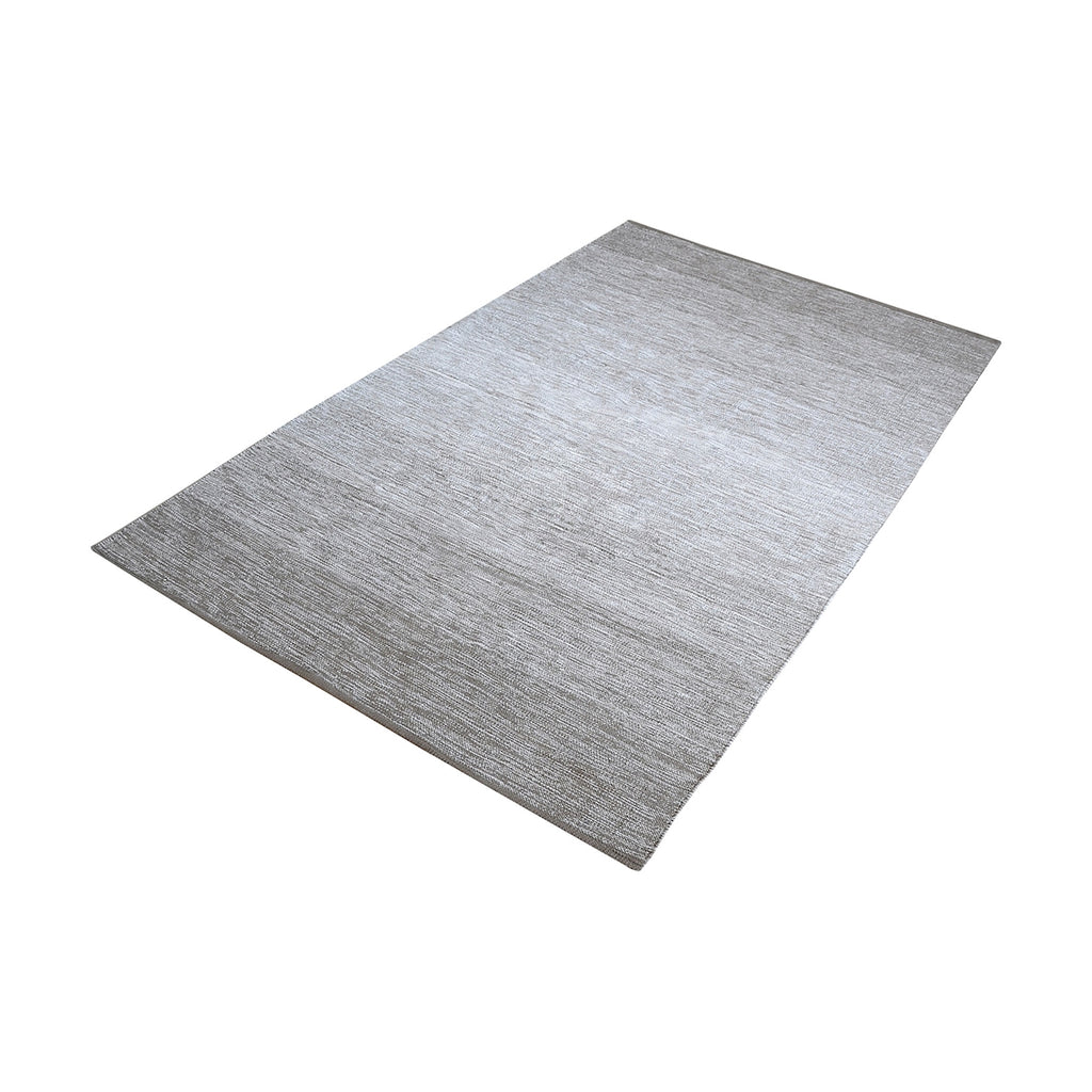 Delight Handmade Cotton Rug In Grey - 2.5ft x 8ft