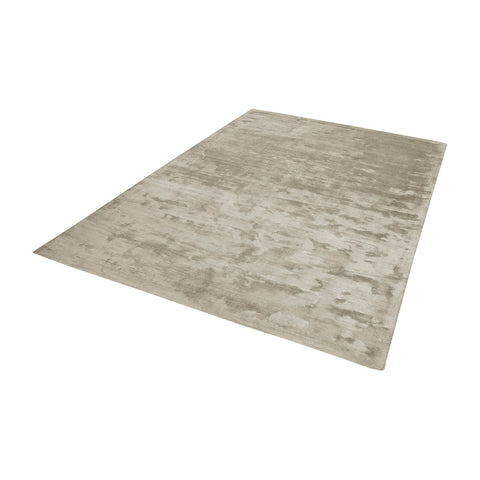 Auram Handwoven Viscose Rug In Stone - 2.5ft x 8ft