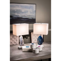 Minoa Table Lamp in Blue Agate and Marble