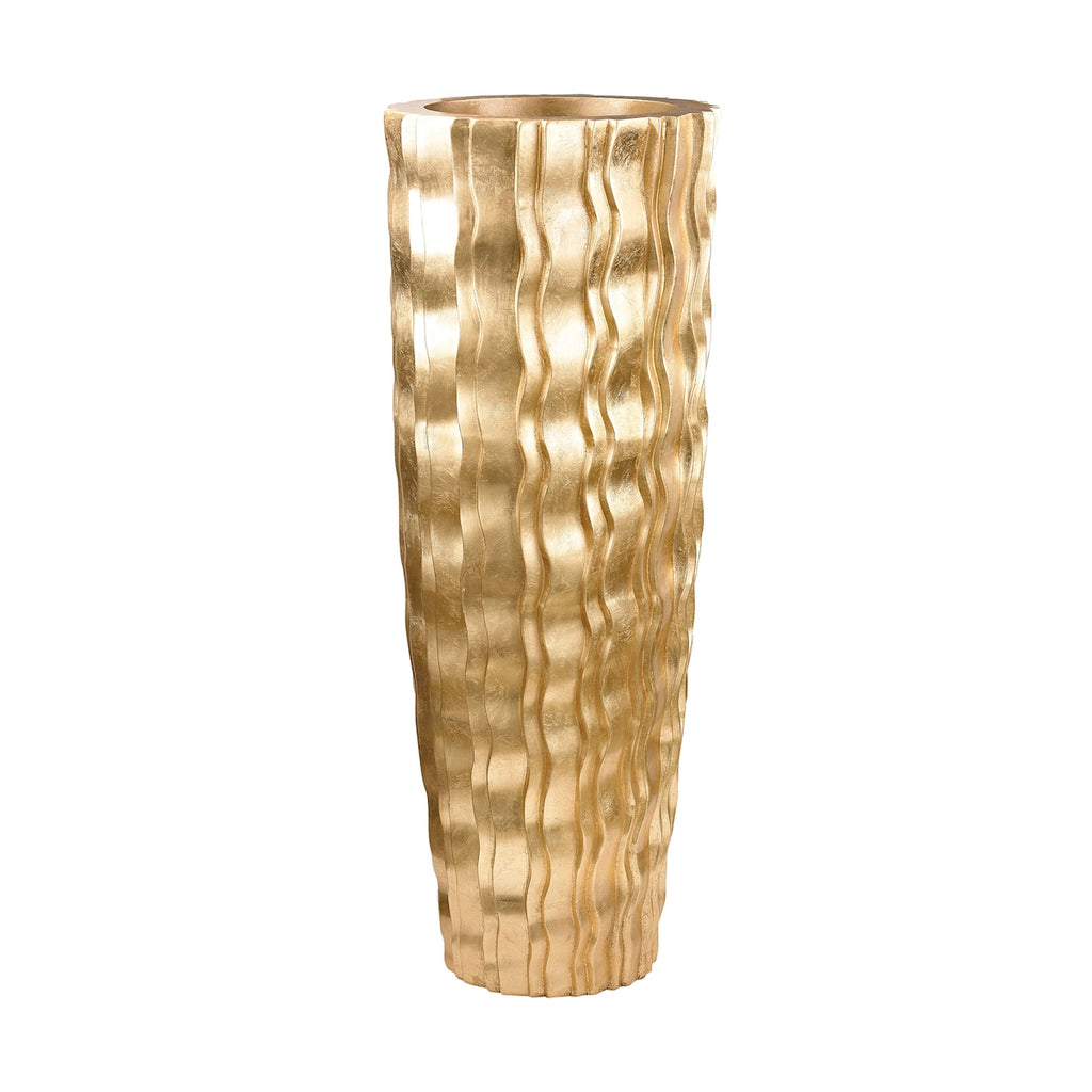 Large Gold Wave Vessel