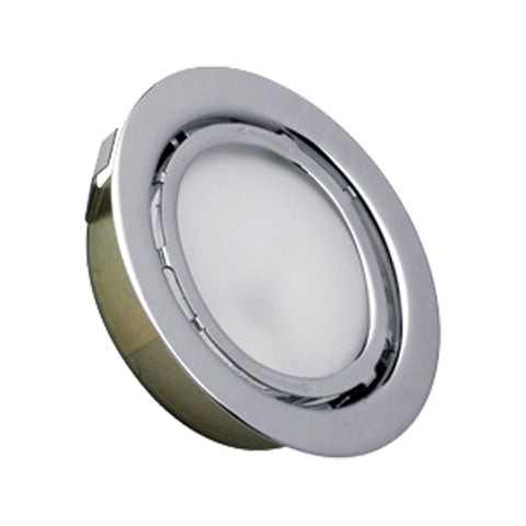 Aurora 1 Light Recessed Disc Light In Stainless Steel