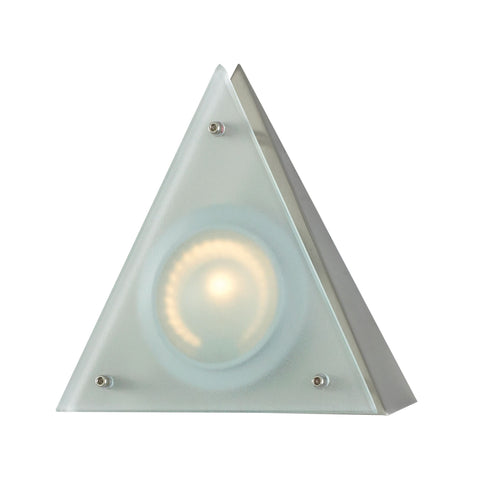 Aurora 1 Light Wedge Disc Light In Stainless Steel