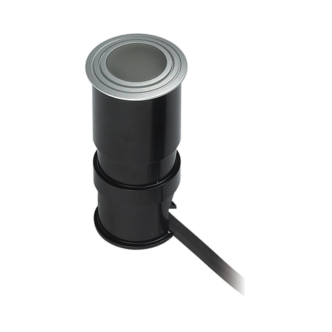 Alpha 1 Light Wet Location LED Button In Brushed Aluminum