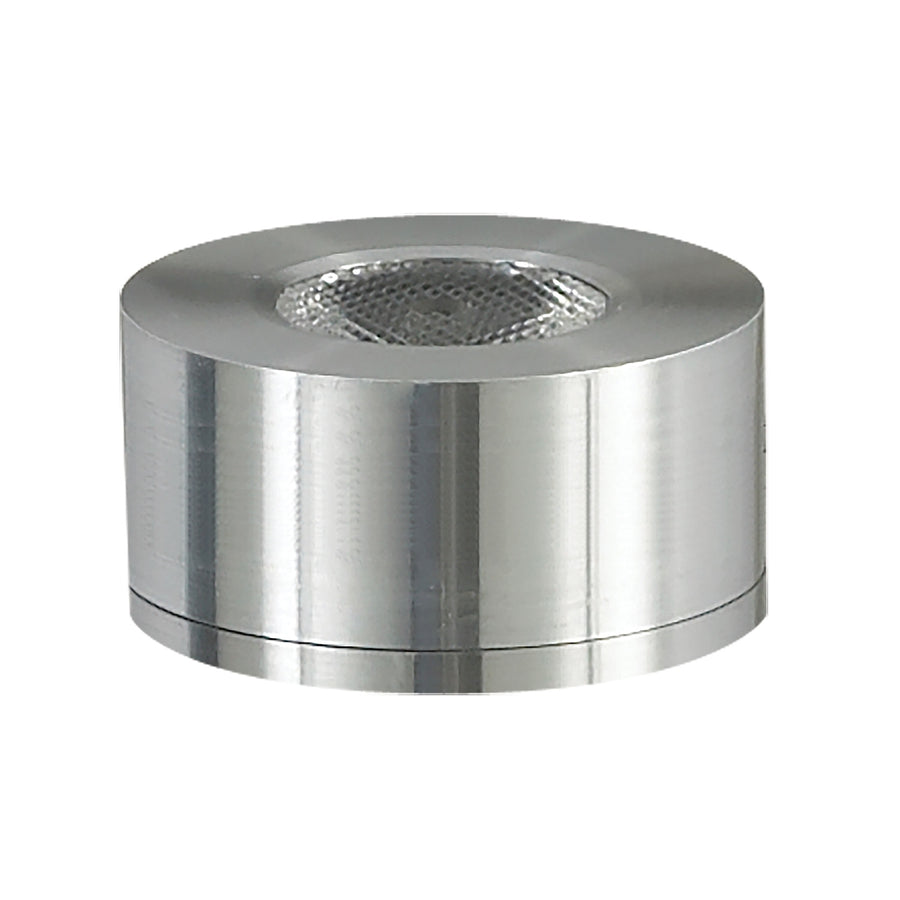 Alpha Collection 1 Light LED Surface Mount Button In Brushed Aluminum
