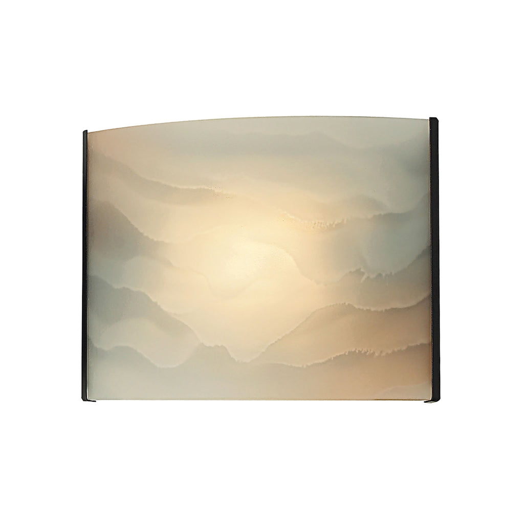 Pannelli 1-Light Vanity Sconce in Oil Rubbed Bronze with Hand-formed Honey Melon Glass